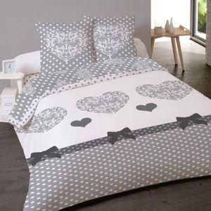 parure de draps en flanelle achat vente parure de draps en flanelle pas cher cdiscount. Black Bedroom Furniture Sets. Home Design Ideas
