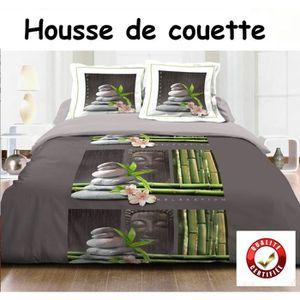 housse couette noire 240x260 achat vente housse couette noire 240x260 pas cher soldes d. Black Bedroom Furniture Sets. Home Design Ideas