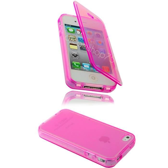 housse coque silicone gel iphone 5 5s rose achat housse. Black Bedroom Furniture Sets. Home Design Ideas