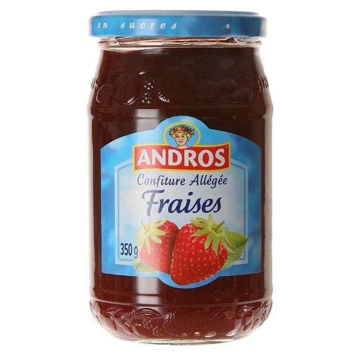 Andros confiture alleg e fraise 350g achat vente confitures andros confiture alleg e frais - Frais de port sur cdiscount ...