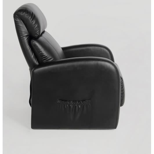 fauteuil crosby inclinable avec massage en cuir f achat. Black Bedroom Furniture Sets. Home Design Ideas