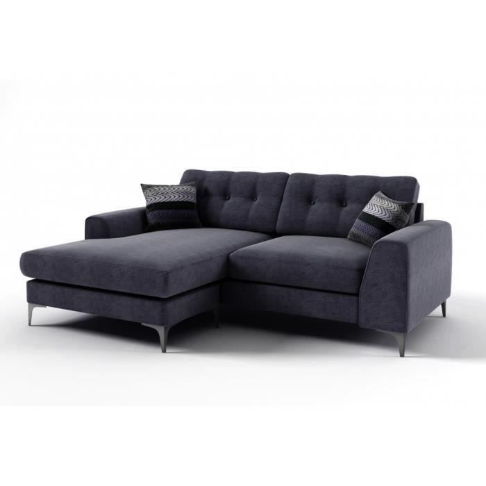 Canap d 39 angle en tissu de qualit ervin achat vente canap sofa - Canape d angle de qualite ...