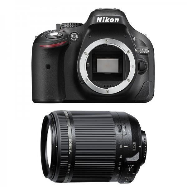 nikon d5200 dslr camera black body with tamron 18 200 vc. Black Bedroom Furniture Sets. Home Design Ideas