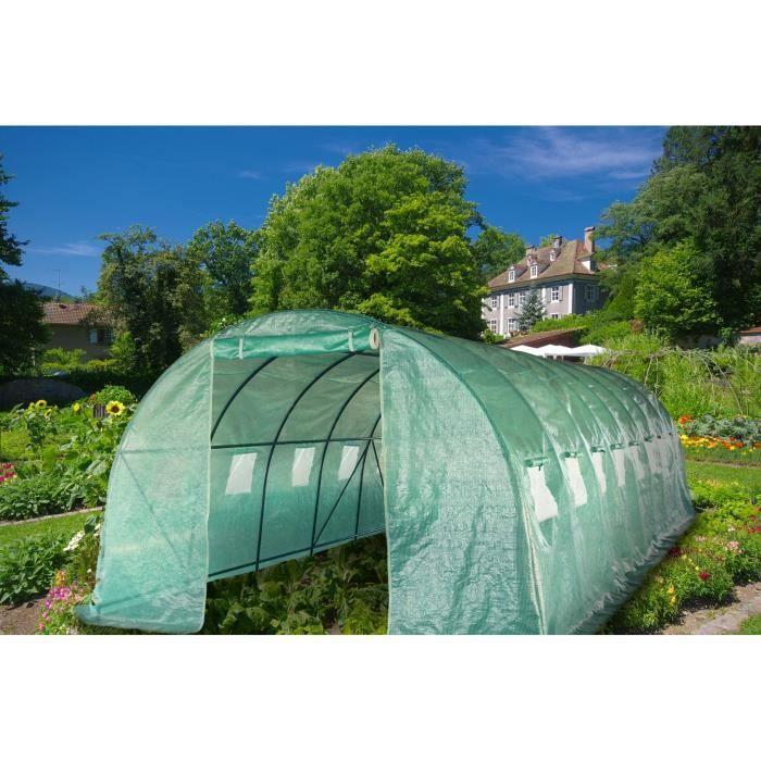 Serre de jardin tunnel en poly thyl ne 24 m 800 x 300 x - Vente de serre de jardin ...