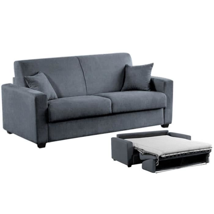 canap convertible milano microfibre gris 120x190 achat vente canap sofa divan. Black Bedroom Furniture Sets. Home Design Ideas