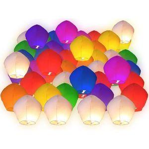 LANTERNE FANTAISIE Lot de 50 Lanternes volantes celeste multicolores
