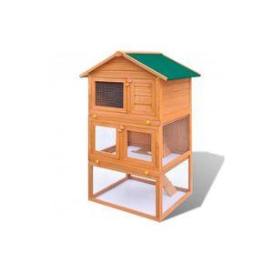 Superbe cage clapier ext rieur en bois pour lapins 3 for Cage exterieur pour lapin