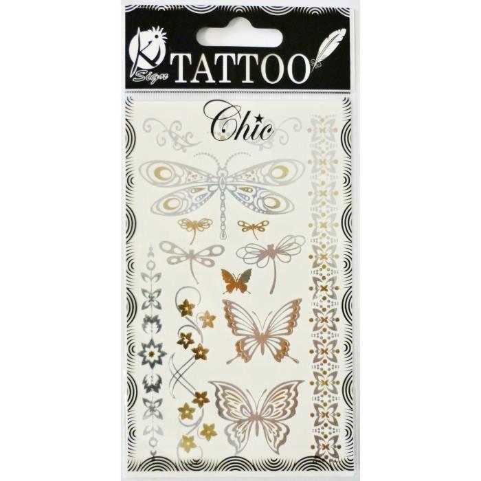 tatouage temporaire papillon achat vente tatouage temporaire papillon pas cher les soldes. Black Bedroom Furniture Sets. Home Design Ideas