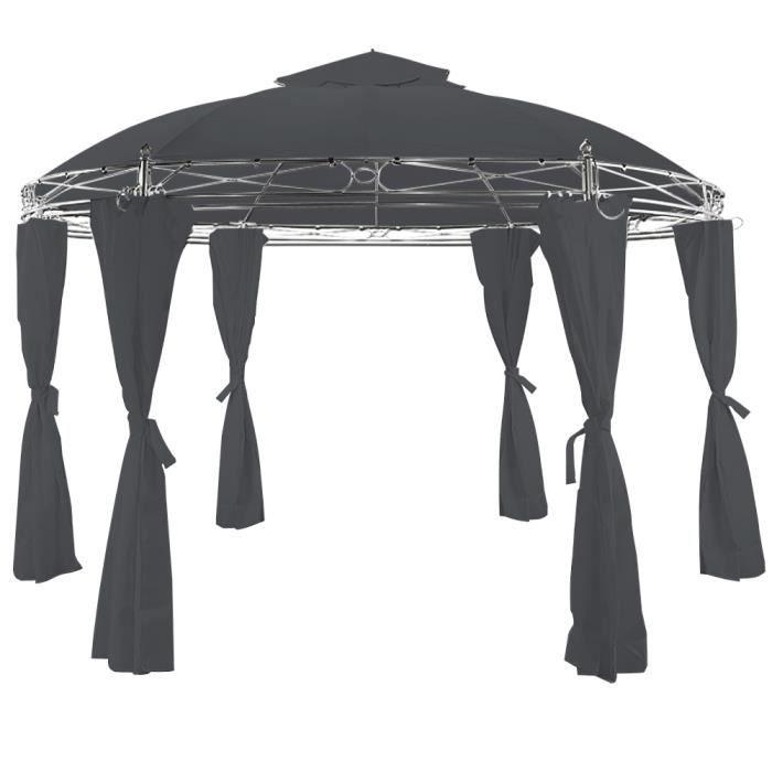 tonnelle toscana gris 3 5m pavillon de jardin achat. Black Bedroom Furniture Sets. Home Design Ideas