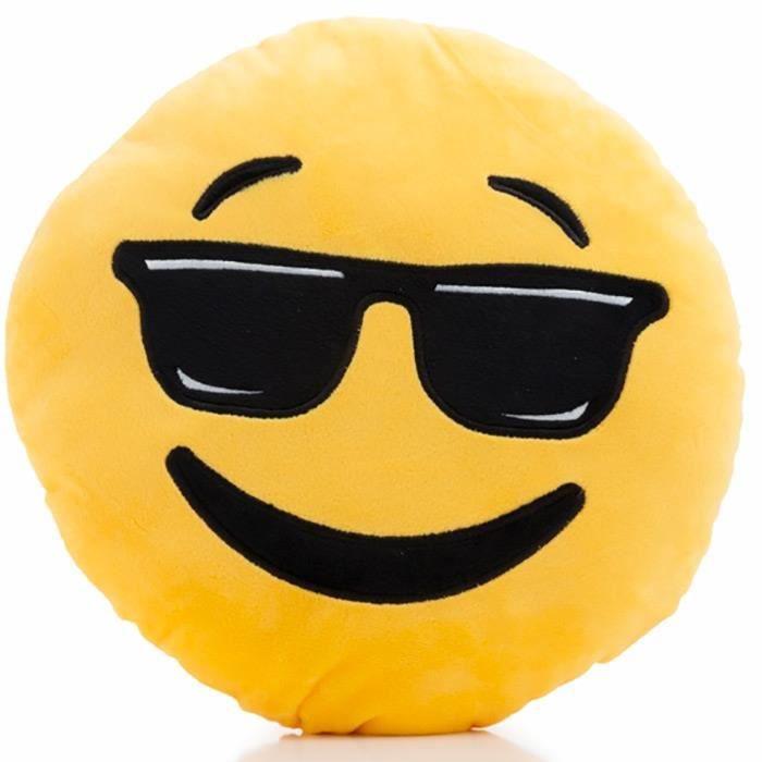 coussin emoji lunette achat vente coussin emoji lunette pas cher les soldes sur cdiscount. Black Bedroom Furniture Sets. Home Design Ideas