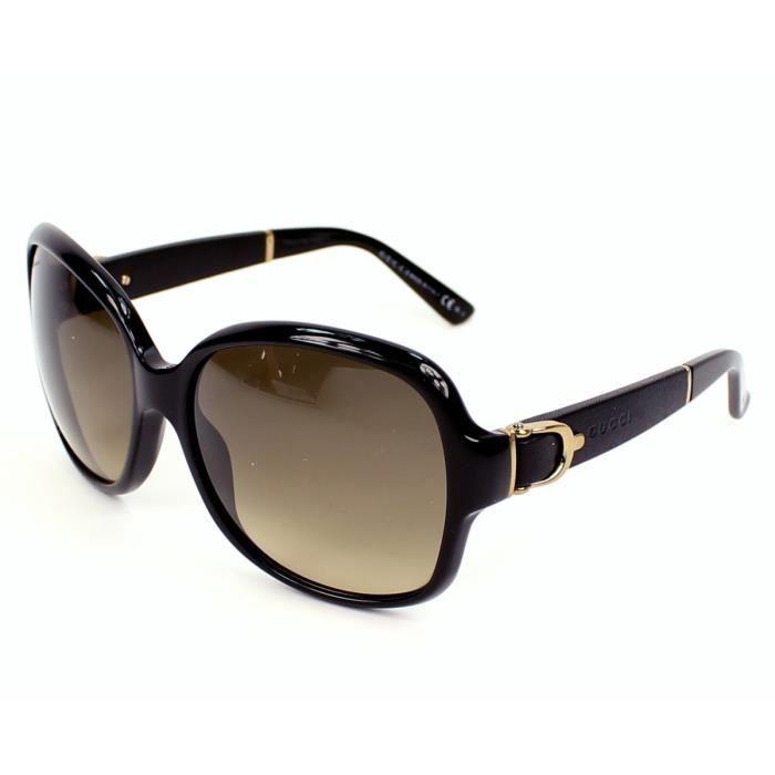 lunettes de soleil gucci gg 3638 s 75qed noir noir achat vente lunettes de soleil femme. Black Bedroom Furniture Sets. Home Design Ideas