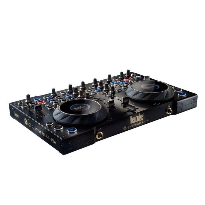 dj console 4 mx black hercules platine dj avis et prix pas cher cdiscount. Black Bedroom Furniture Sets. Home Design Ideas