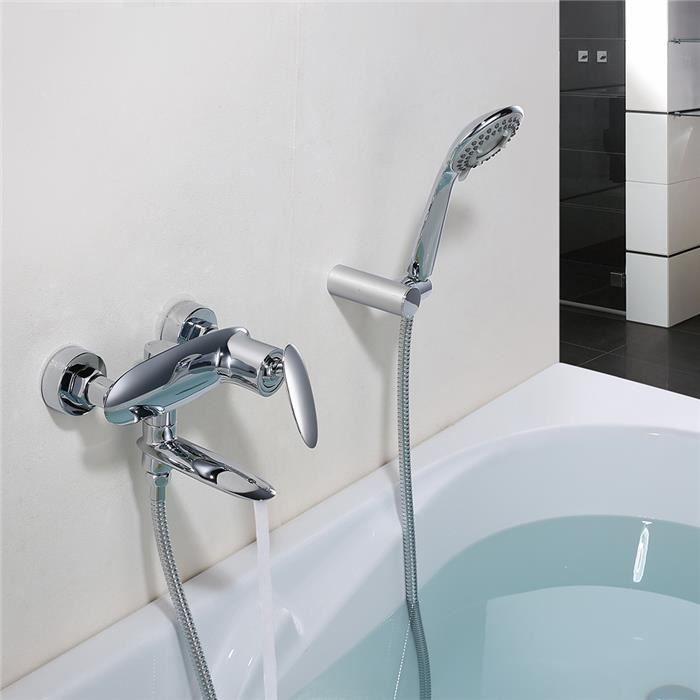 robinet de baignoire avec douchette avec 3 fonction douche pour salle de bain mitigeur bain et. Black Bedroom Furniture Sets. Home Design Ideas