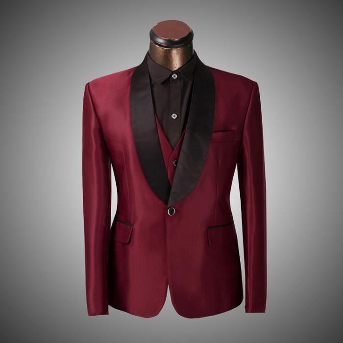 hommes costumes formelle de mariage groom vintage vest veste pantalon rouge achat. Black Bedroom Furniture Sets. Home Design Ideas