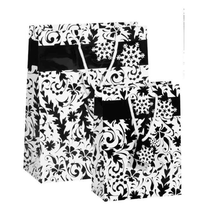 sac cadeau de noel grace 2 tailles pqt de 5 achat vente papier cadeau sac cadeau de noel. Black Bedroom Furniture Sets. Home Design Ideas