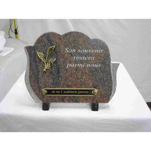 plaque funeraire granit achat vente plaque funeraire granit pas cher cdiscount. Black Bedroom Furniture Sets. Home Design Ideas