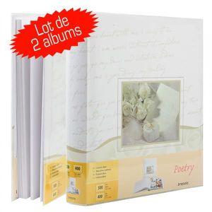 ALBUM - ALBUM PHOTO Lot de 2 albums Photo Mariage Poetry 100 Pages bla
