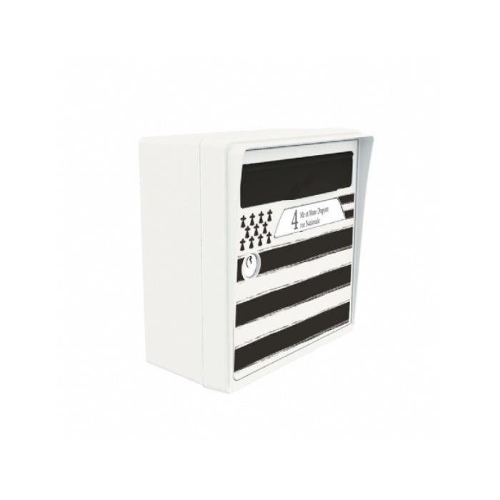 boite aux lettres murale blanche bretagne achat vente boite aux lettres cdiscount. Black Bedroom Furniture Sets. Home Design Ideas