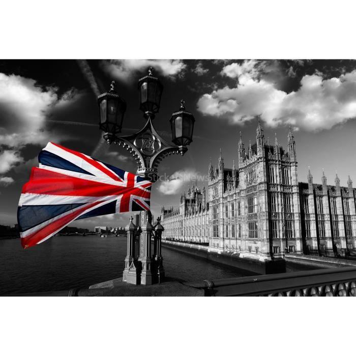 stickers autocollant ou affiche poster drapeau anglais cv