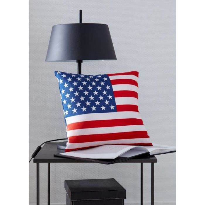 paris prix coussin d co us flag 38x38cm achat vente. Black Bedroom Furniture Sets. Home Design Ideas