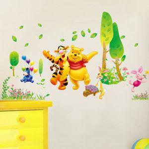 Sticker chambre b b achat vente sticker chambre b b pas cher - Decoration chambre bebe winnie l ourson ...