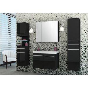 Ensemble salle de bain Notias noir    - Composition :