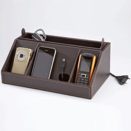 Support de charge simili cuir pour t l phone mp achat - Telephone portable 8 megapixel ...