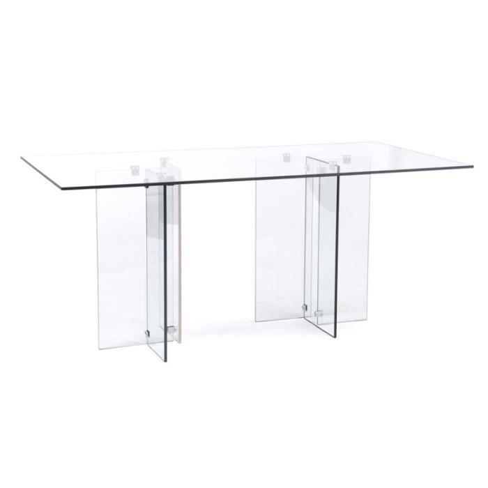 Table de s jour verre transparent glassy achat vente - Table sejour verre ...