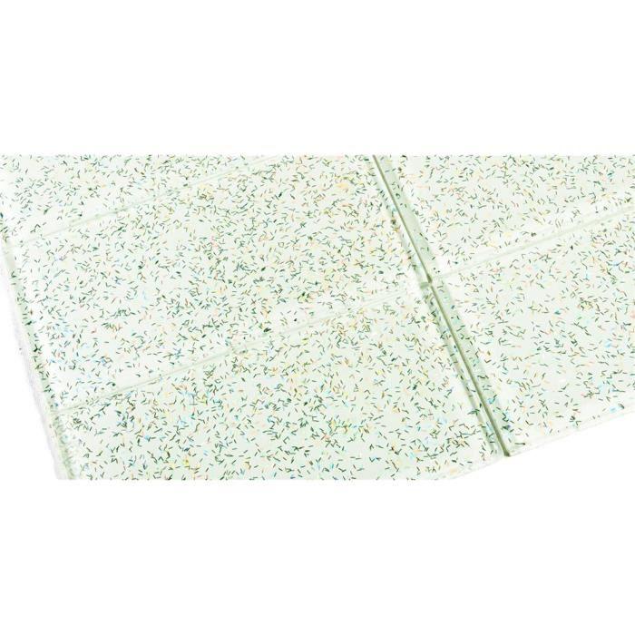 Carrelage en verre blanc avec des paillettes for Carrelage en verre