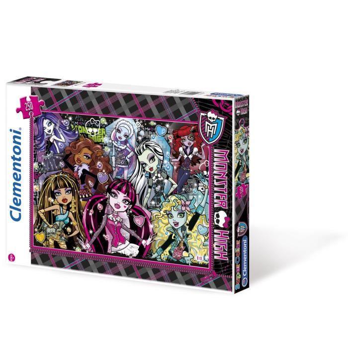 Monster high puzzle 250 pi ces clementoni achat vente puzzle cdiscount - Vente de monster high ...