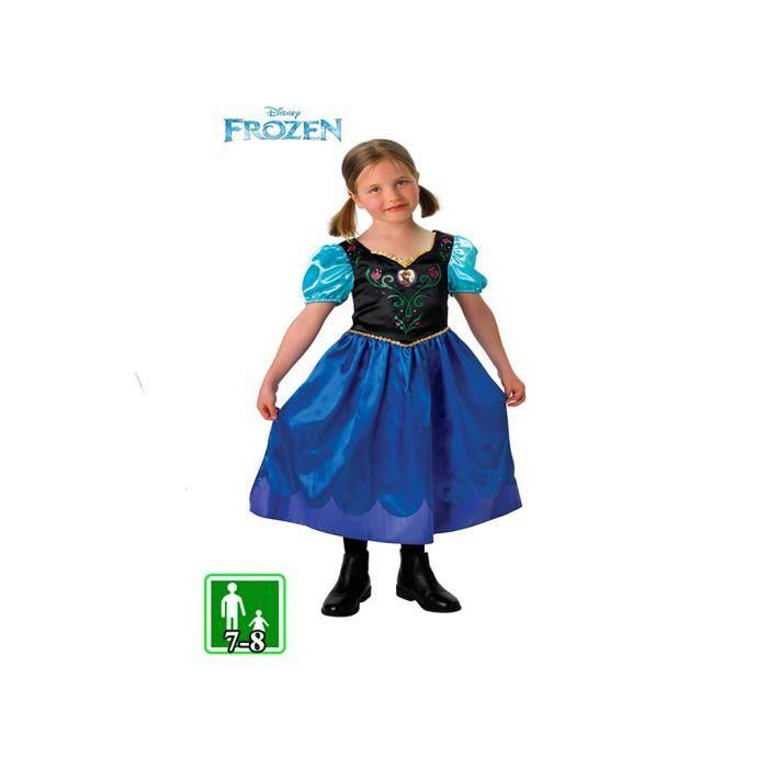 d guisement robe anna la reine des neiges 7 8 ans disney officiel achat vente d guisement. Black Bedroom Furniture Sets. Home Design Ideas