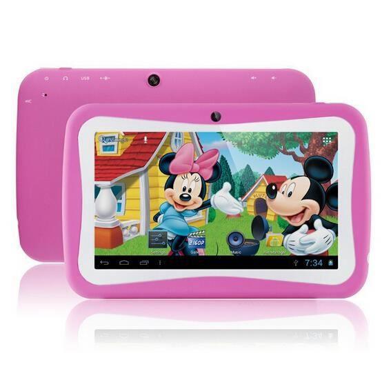 Exlene tablette enfant 8go android 4 2 2 wifi 2 cam ras - Tablette pour enfant pas cher ...