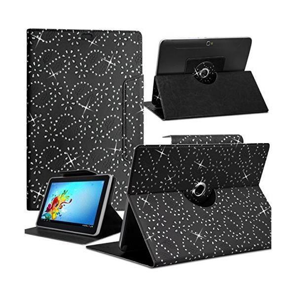 informatique accessoires tablettes tactiles housse etui diamant universel s couleur noir pour f  kar