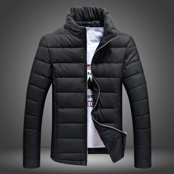 parka homme longue veste doudoune manteau homme noir achat vente parka cdiscount. Black Bedroom Furniture Sets. Home Design Ideas