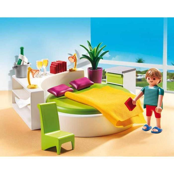 playmobil 5583 chambre avec lit rond achat vente univers miniature cdiscount. Black Bedroom Furniture Sets. Home Design Ideas