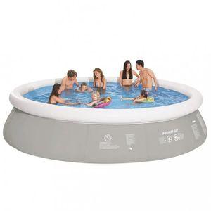 Piscine hors sol diametre 5 5 m achat vente piscine for Piscine acier grise