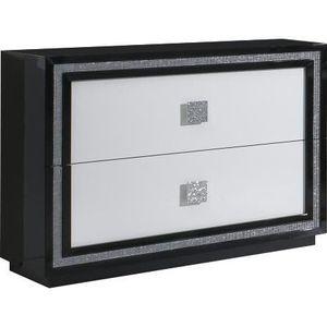meuble chambre noir et blanc laque achat vente meuble chambre noir et blanc laque pas cher. Black Bedroom Furniture Sets. Home Design Ideas