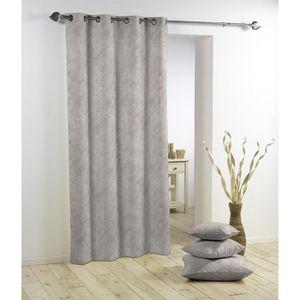 panneau rideau oeillets beton cire gris clair achat vente rideau cdiscount. Black Bedroom Furniture Sets. Home Design Ideas