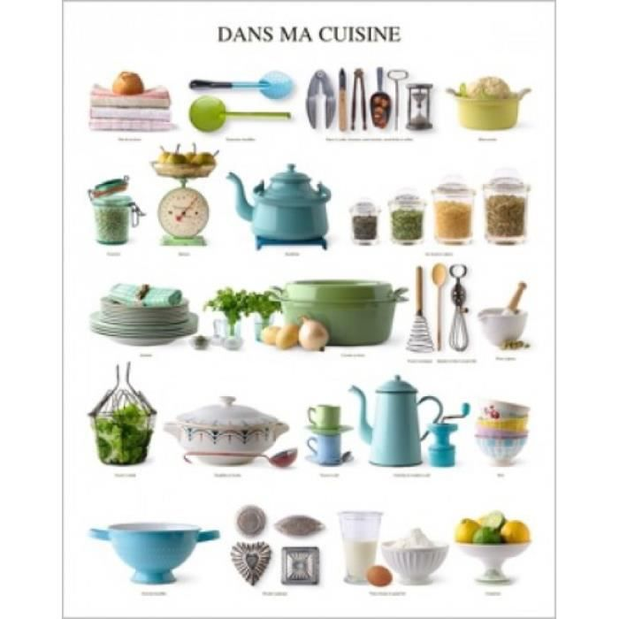 cuisine poster reproduction dans ma cuisine ustensiles 50 x 40 cm achat vente affiche. Black Bedroom Furniture Sets. Home Design Ideas
