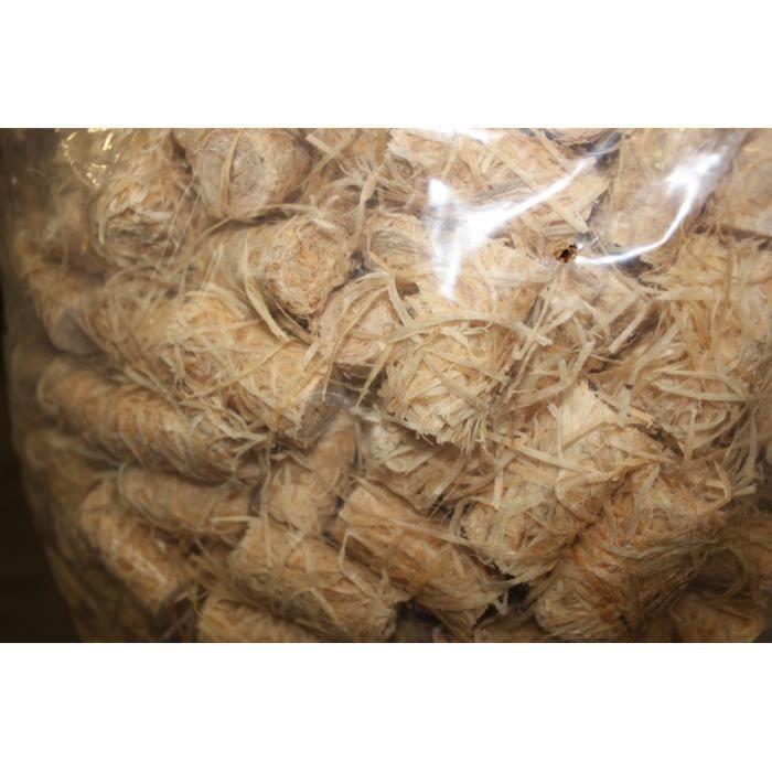 allume feu en laine de bois sac de 12 5 kg soit environ 950 pi ces achat vente copeaux bois. Black Bedroom Furniture Sets. Home Design Ideas