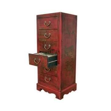 Chiffonnier chinois six tiroirs style cit xian achat for Commode style asiatique