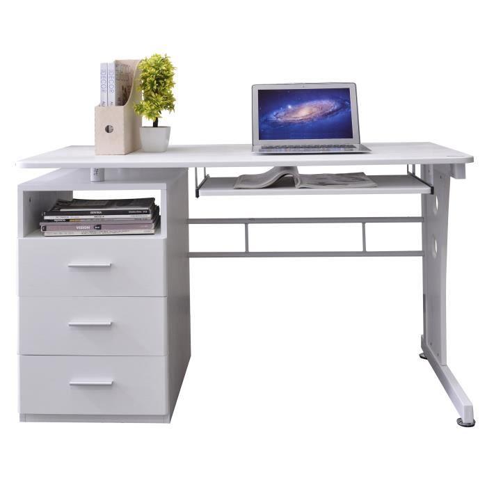 bureau informatique blanc s 352 2073 achat vente meuble informatique bureau informatique. Black Bedroom Furniture Sets. Home Design Ideas