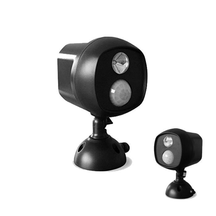 projecteur photovolta que led sans fil avec d tecteur de mouvement r sistant la corrosion. Black Bedroom Furniture Sets. Home Design Ideas