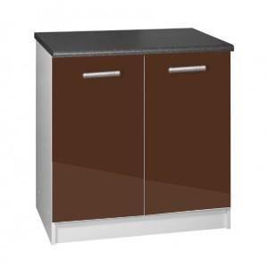 Meuble cuisine bas 80 cm 2 portes tara chocolat achat vente elements bas meuble cuisine bas for Portes elements cuisine