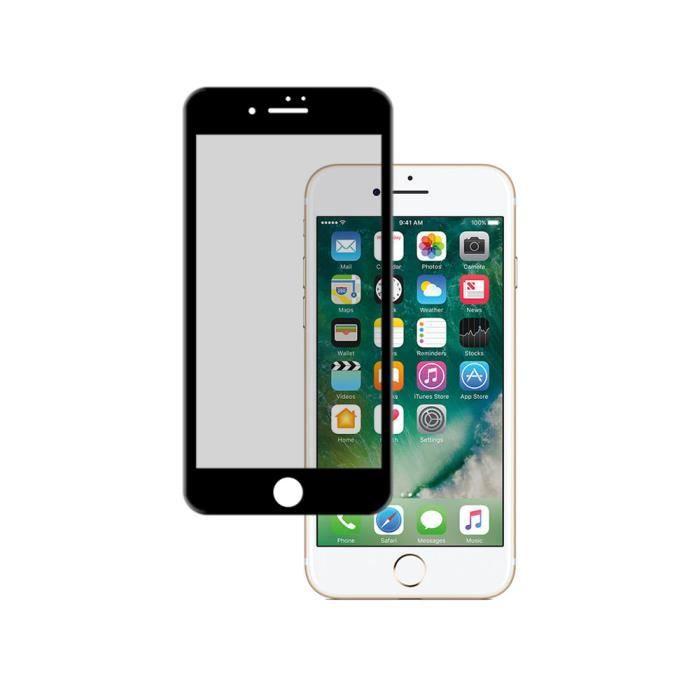becool protecteur d 39 cran en verre tremp 3d noir premium pour iphone 7 achat film protect. Black Bedroom Furniture Sets. Home Design Ideas