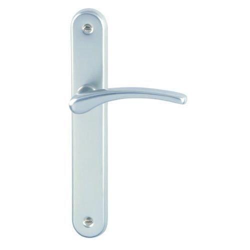 Dt 2000 702210 poign e de porte sur plaque cluses for Poignee porte exterieure maison
