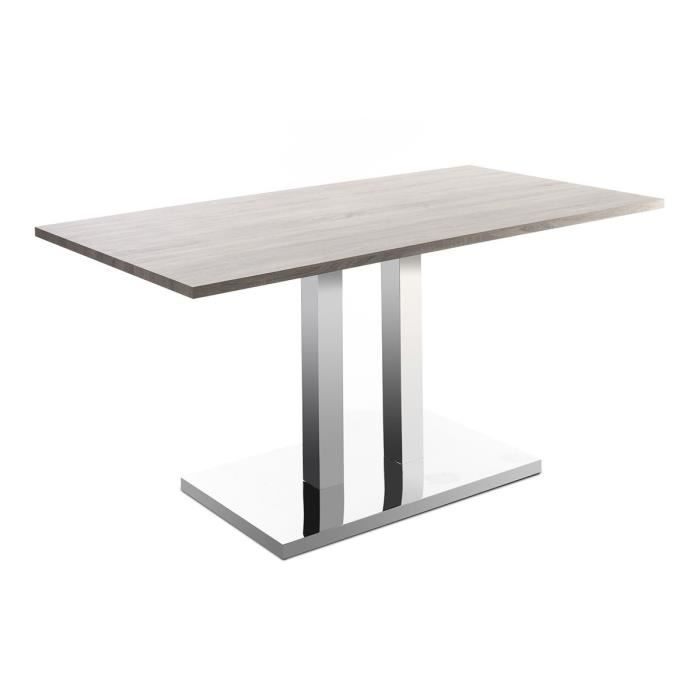 Miliboo table manger design 150x80 bois cla achat for Achat table a manger