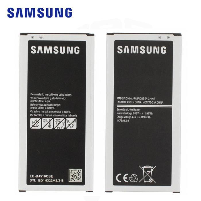 batterie 3100mah pour samsung galaxy j5 2016 j510 noir achat batterie t l phone. Black Bedroom Furniture Sets. Home Design Ideas