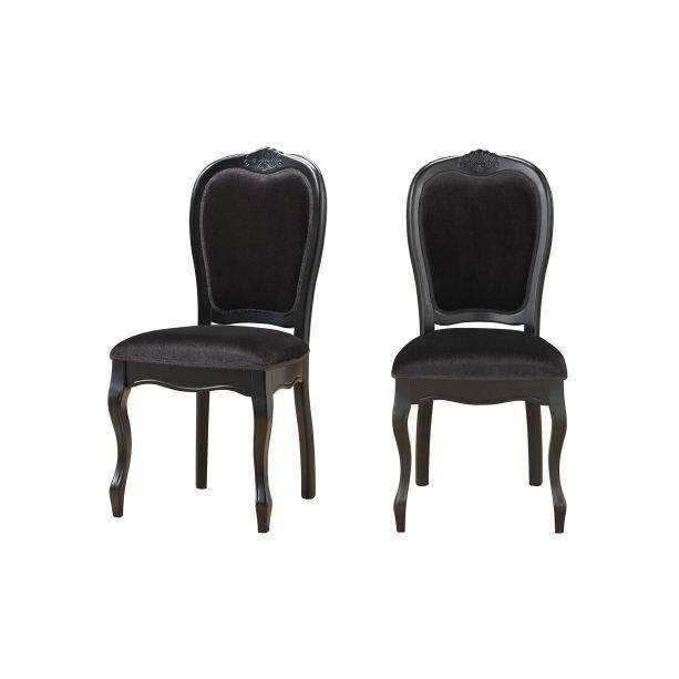 lot de 2 chaises en tissu princesse achat vente chaise mati re de la structure bois massif. Black Bedroom Furniture Sets. Home Design Ideas
