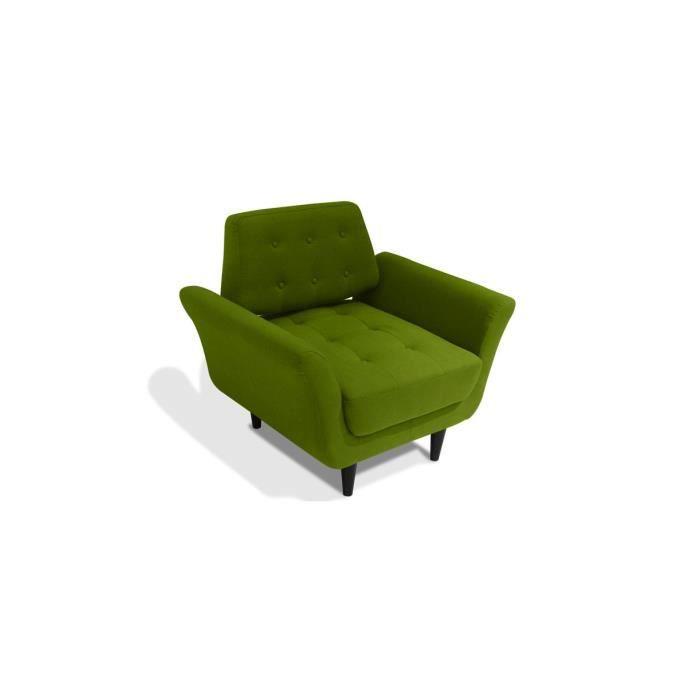 Fauteuil en tissu vert ghotam achat vente fauteuil for Les pachas du canape vert